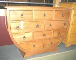 commode arrondie 10 tiroirs